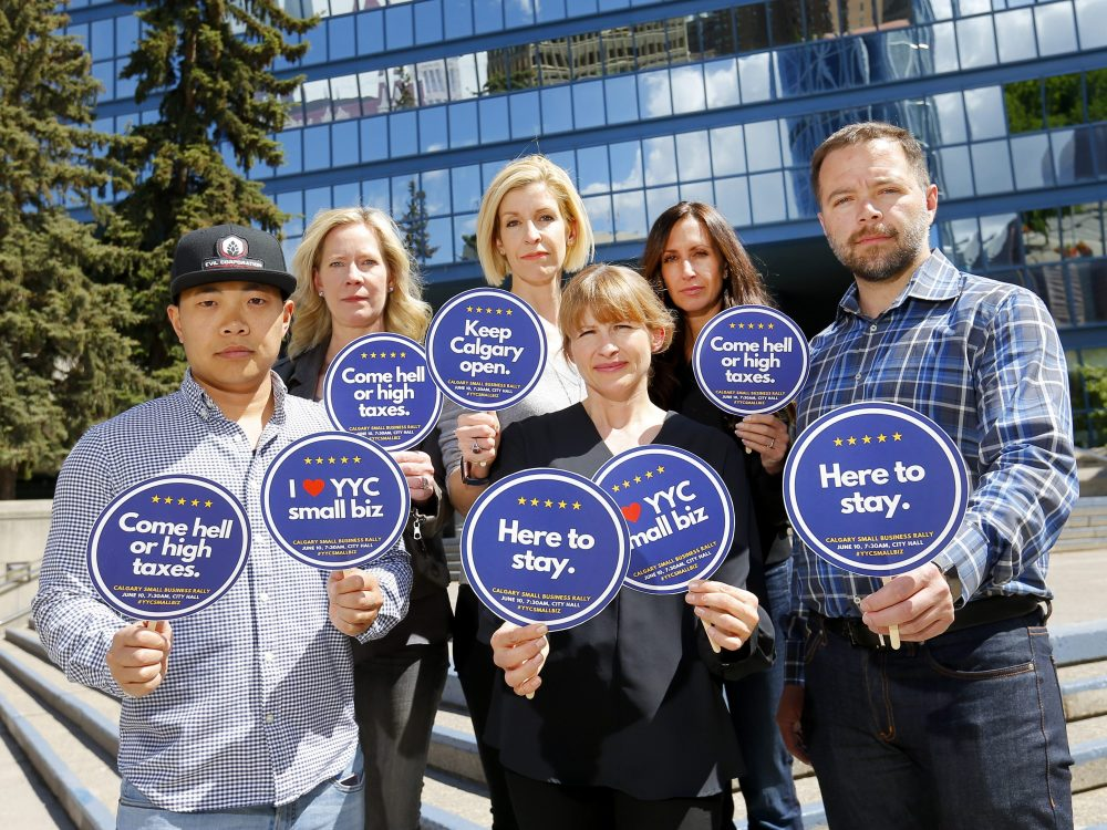 Tax crisis spurs city hall rally by small business owners – Calgary Herald