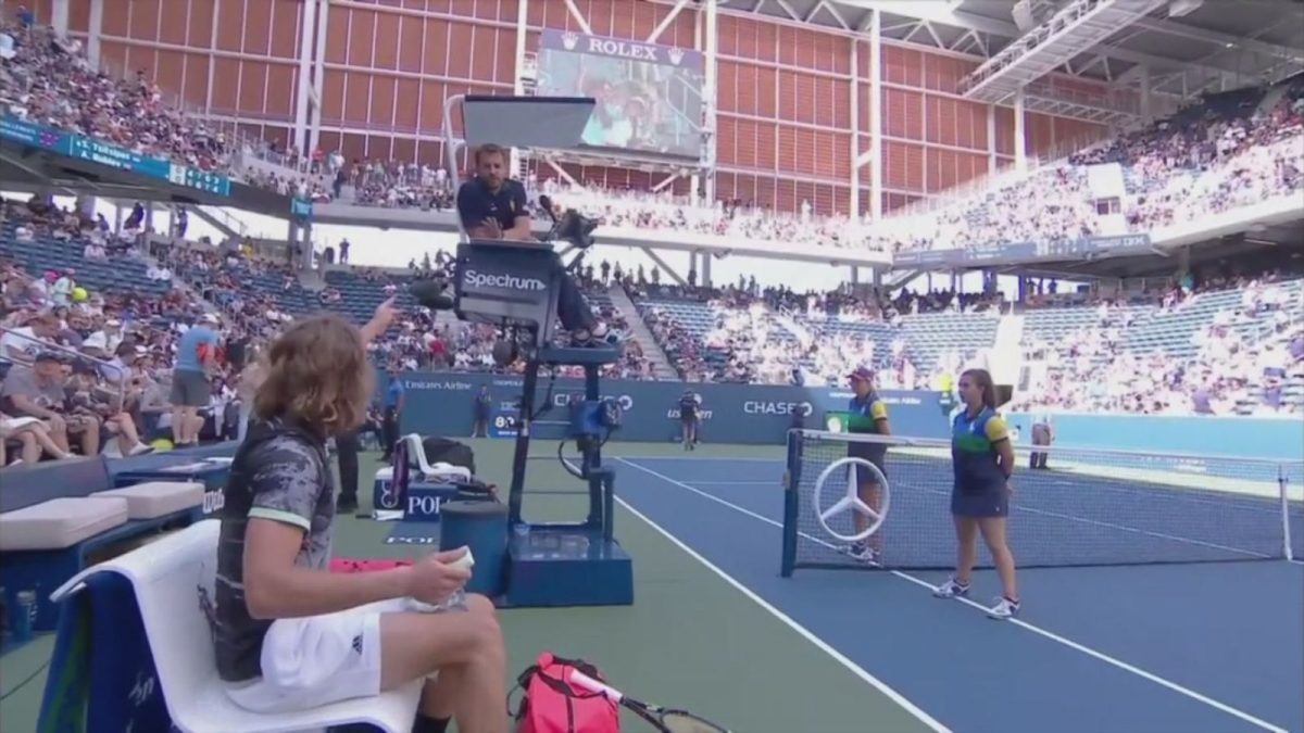 """Stefanos Tsitsipas Loses It On Umpire At U.S. Open: """"Because You're French Probably, And You're All Weirdos!"""""""