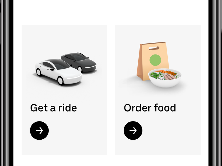 Uber app redesign puts Eats front and center – CNET