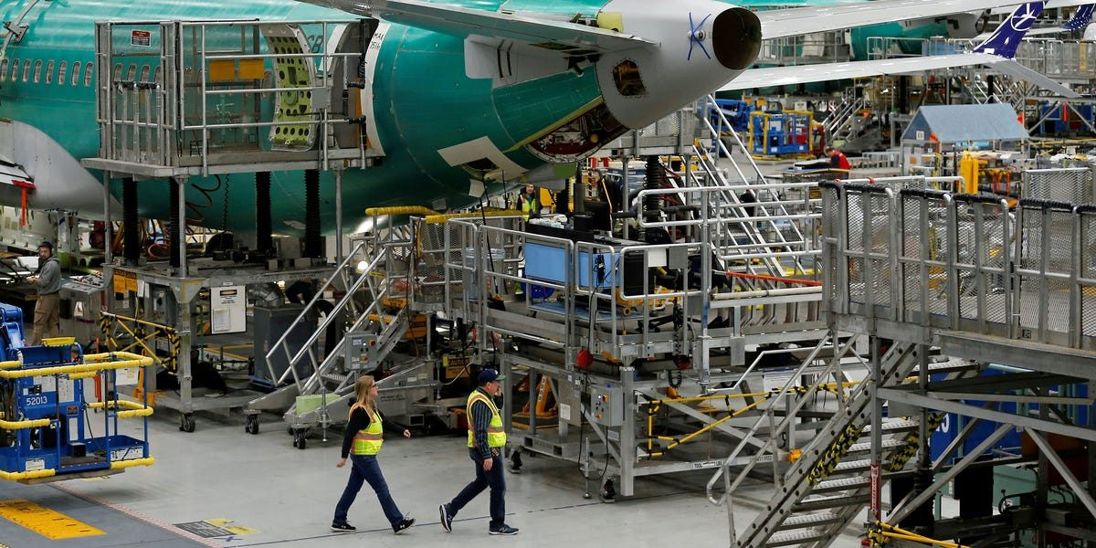 Boeing says it won't lay anyone off as it halts 737 Max production, but for the 600 suppliers that make parts for the plane, the suspension could be damaging (BA, SPR, GE, UTX, HON, HXL, WWD)