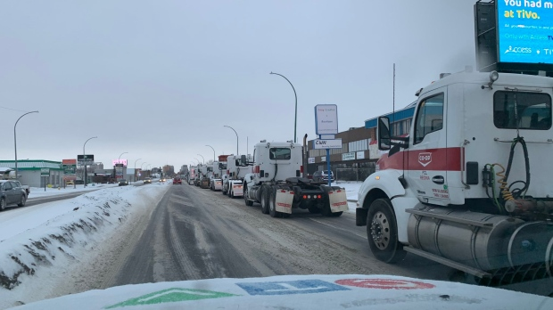 Fuel haulers to rally downtown over union barricades at Co-op Refinery Complex – CTV News
