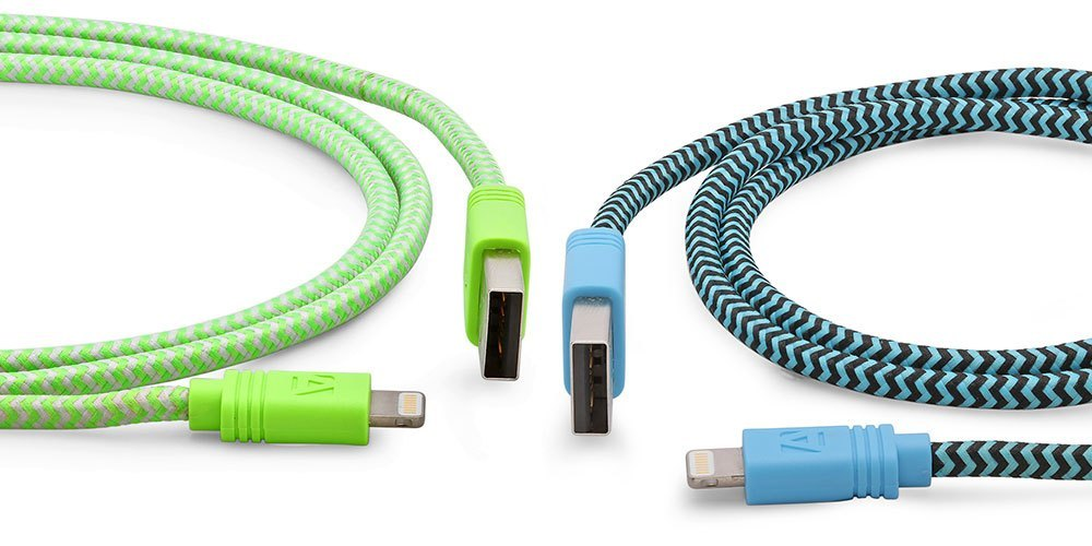 This 10-foot cloth Lightning cable won't break like those fragile Apple cables and is only $15