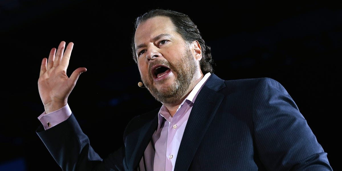 Tech billionaire Marc Benioff wants every CEO to take a 'no-layoff' pledge as part of an 8 point plan to deal with coronavirus (CRM)