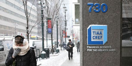 TIAA is offering 75% of its US employees buyouts if they quit the $1.1 trillion investment manager
