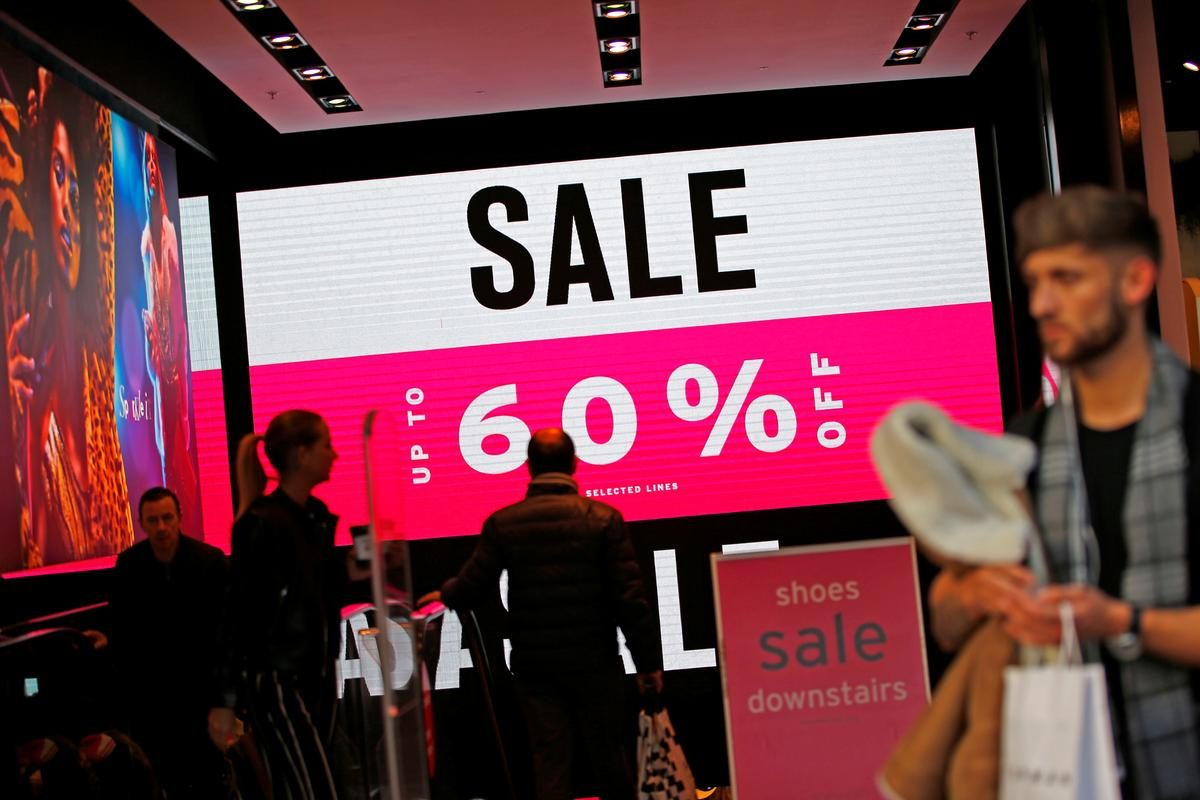 UK retail sales survey highest since April 2019, CBI says – Reuters